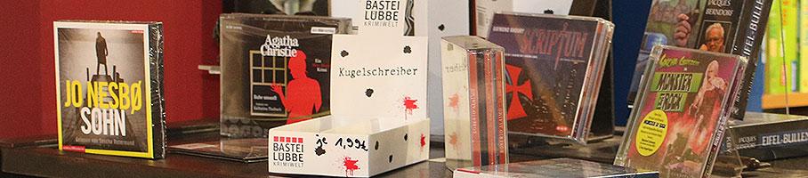 Krimi-Hörbücher im Lesezeichen Hillesheim